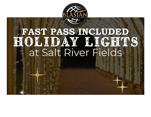Holiday Lights at Salt river field Blasi