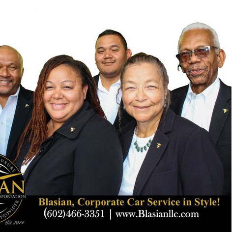 Blasian Limousine and Transportation PHX Airport Transportation leadership team