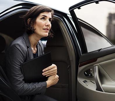 Businesswoman Corporate Taxi Transport S