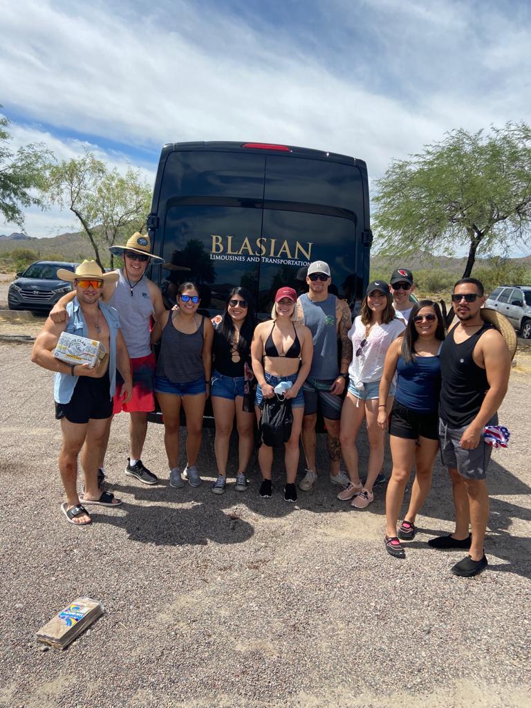 Salt river tubing group transportation B