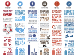 Great info graphic comparing social media use