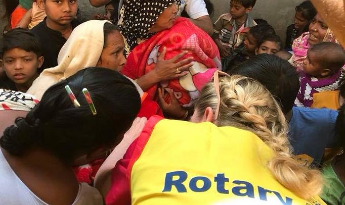 Polio immunizations, India