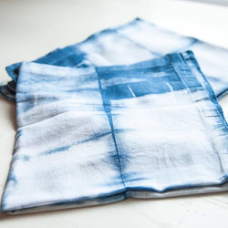 Indigo Shibori Cloth Napkins available on August 6 at the Summer Makers Market at The Bunker in SLO