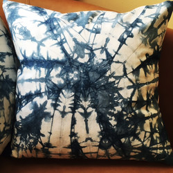 Indigo Shibori Dyed Pillow