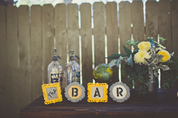 Wedding Bar Decorations