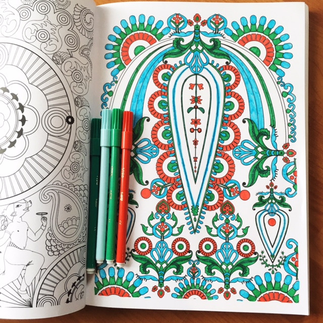 Meditative Coloring, my favorite entry level creative activity