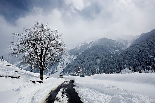 Kashmir Tour, enjoy snowfall