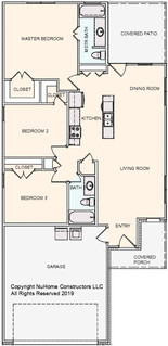 NuHome 1229 sq ft, 3 Bedroom, 2 Car Garage