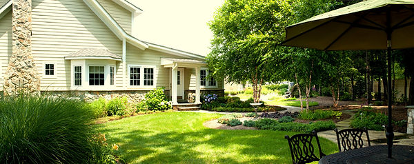 Graywater & rain water keeping lawn and beds green through summer, saves money and water