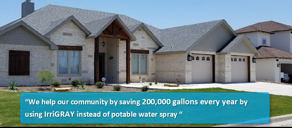 Graywater saves 200,000 gallons