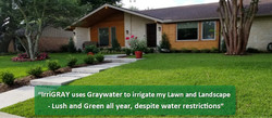 Graywater Lawn and Landscape Beds