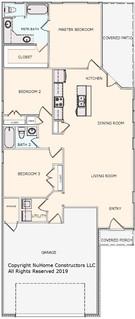 NuHome 1405 sq ft, 3 Bedroom with 2 Car Garage
