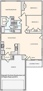 NuHome 1361 sq ft, 3 Bedroom, 2 Car Garage