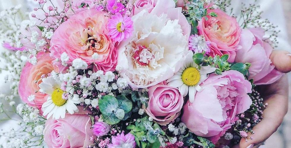 Brautstrauß Rosarot