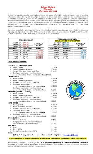 carta matricula NUEVO INGRESO 2021-2022_