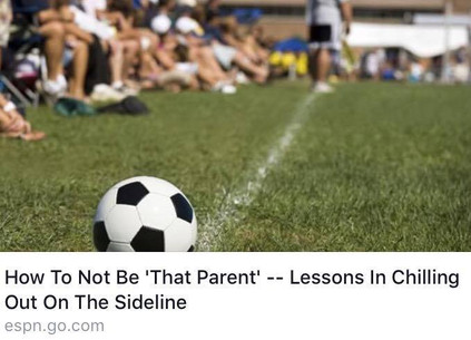 How To Not Be 'That Parent': Chilling Out On The Sideline