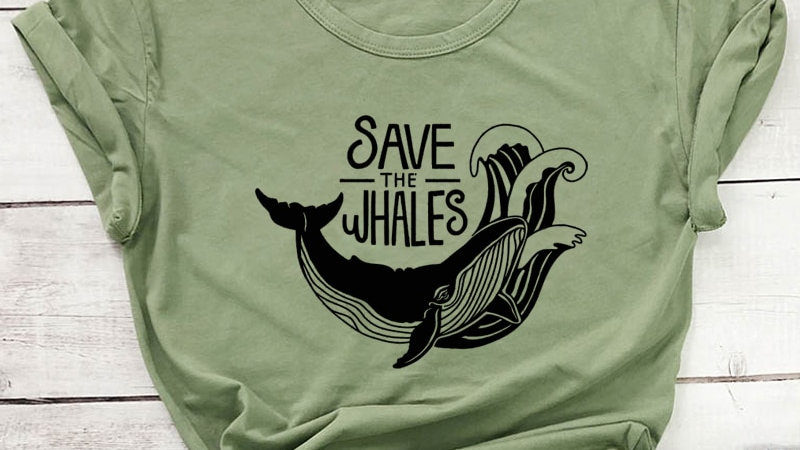 Save the Whales Cotton T-Shirt Unisex