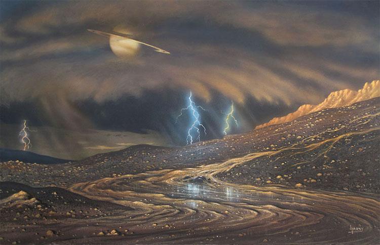 Rain on Titan