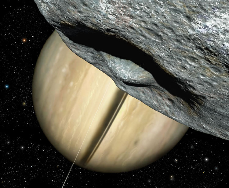 Herschel Crater, Mimas