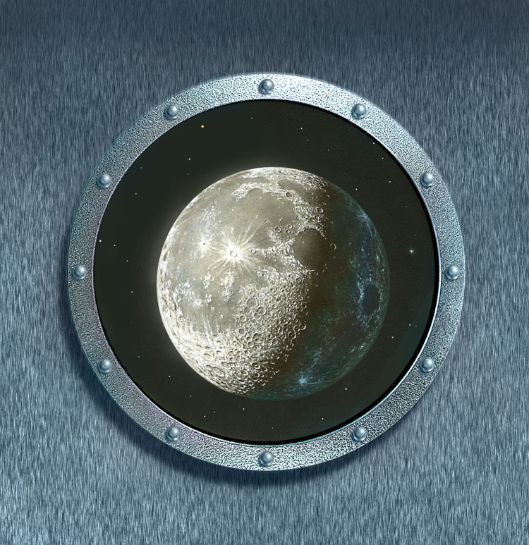 Gibbous Moon Porthole