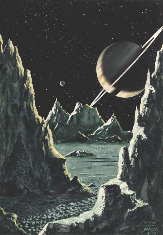 Saturn from Rhea '53