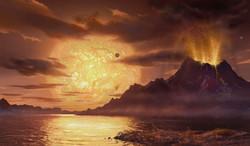 Gliese 581 volcano