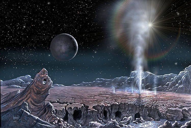 Geyser on Pluto