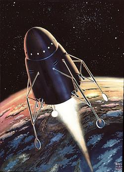 BIS Moonship leaves Earth