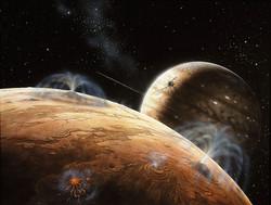 Galileo over Io