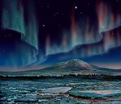 Mt Erebus Aurora