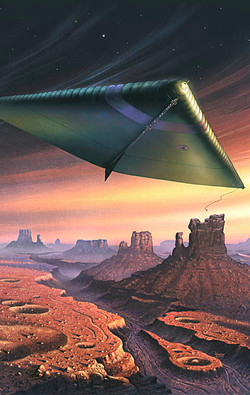 Dirigible over Mars