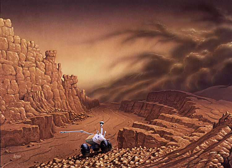 Graben on Mars