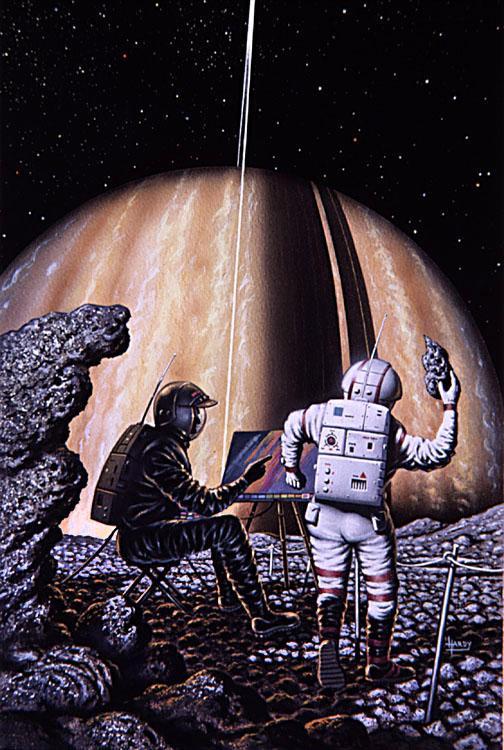 Artist on Mimas