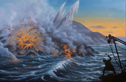 Lavaflow into the Ocean, Surtsey