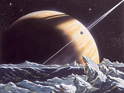 Saturn from Enceladus
