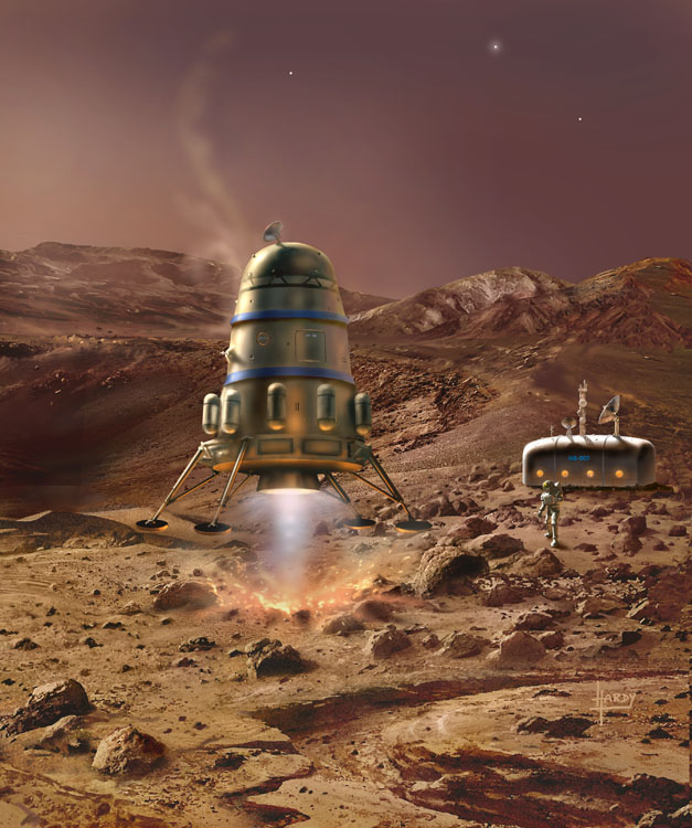 Mars Lander with Module