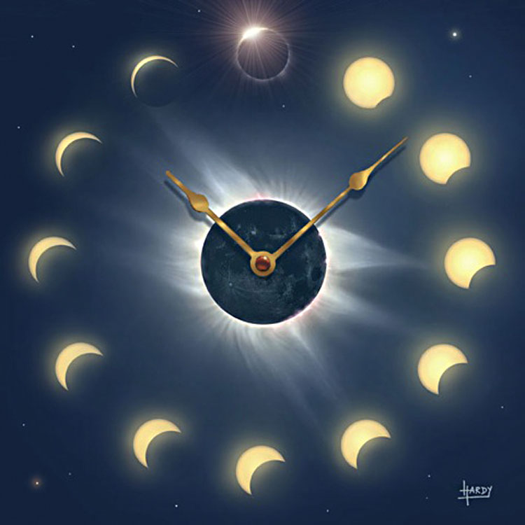 Solar Eclipse Clock