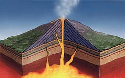 Volcano Cutaway