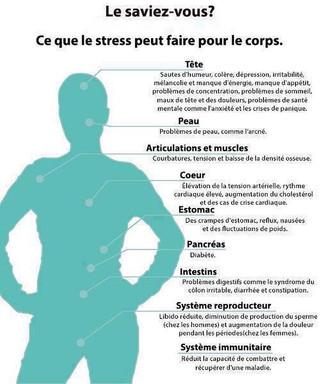 Le saviez-vous? Ce que le stress peut faire pour le corps.