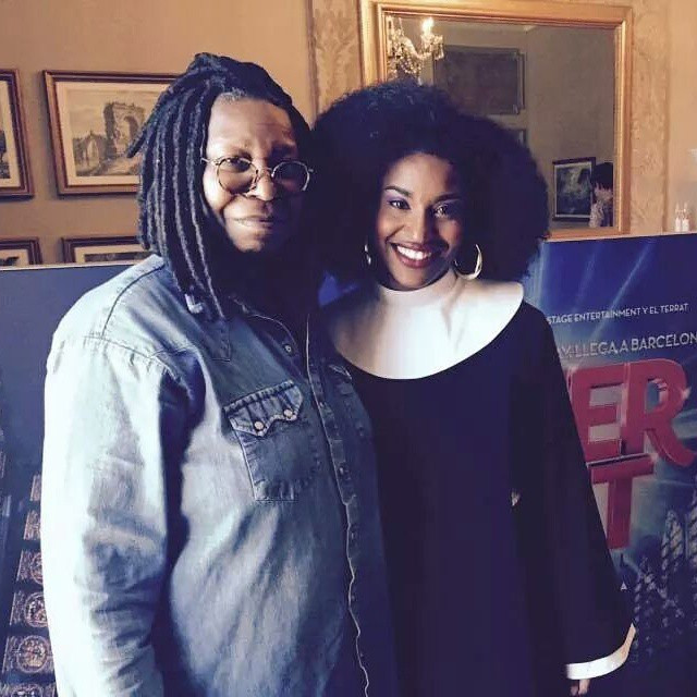 Whoopi Goldberg and Mireia Mambo in Barcelona