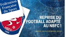 NOUVELLE SESSION D'ENTRAINEMENT POUR LE FOOTBALL ADAPTÉ !