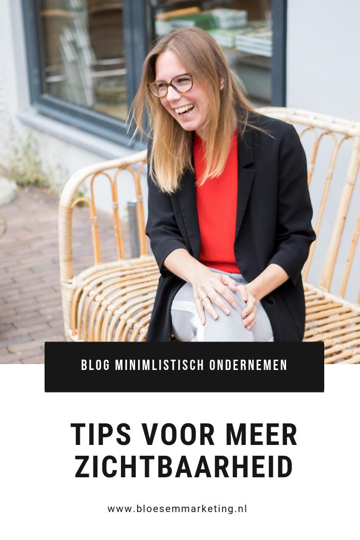 tips voor meer zichtbaarheid | minimalistisch ondernemen