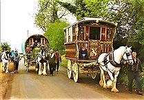 Barrie Law caravan on the road.jpg