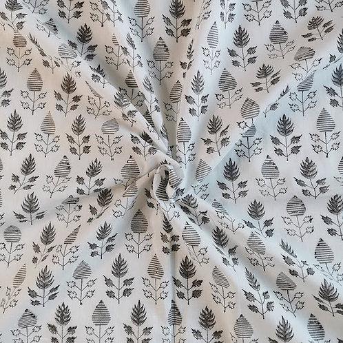 Block Printed Fabrics - Blacks & Blues