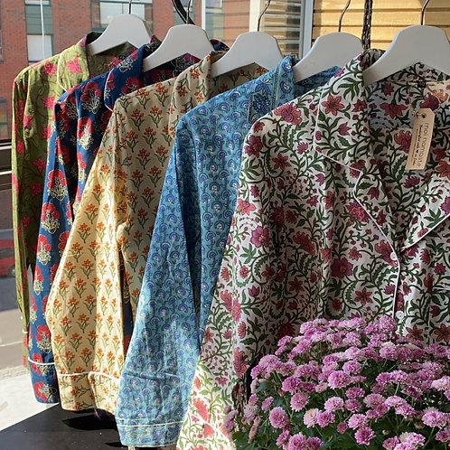 Hand Block Printed Pyjama Sets - Size 40