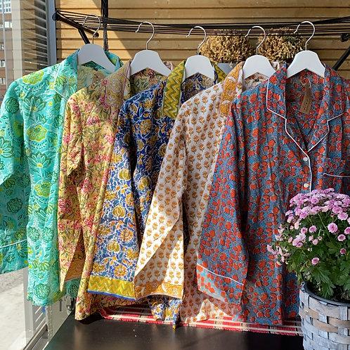 Hand Block Printed Pyjama Sets - Size 38
