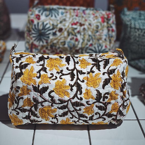 Hand Block-printed Travel Pouches