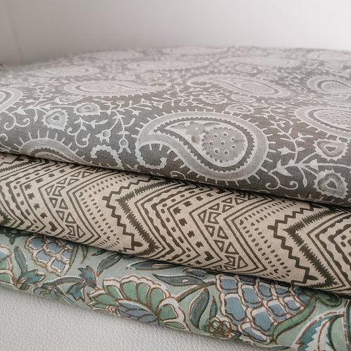 Screen Printed Fabrics - Subtle Hues