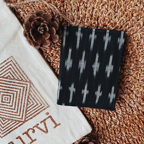 Handmade Fabric 6-Slot Card Holder: Blacks & Reds