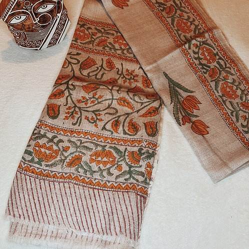 Lily Blockprint Scarf